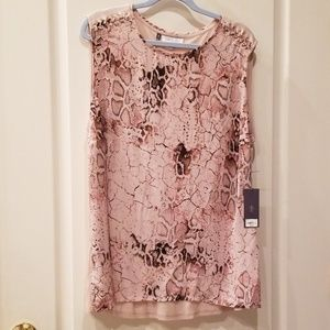 J Lo Jennifer Lopez Winter Blooms Snakeskin 1X Top